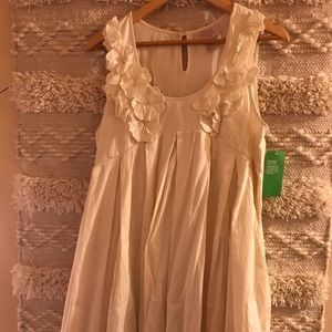 New H&M Organic Cotton Size 14 Ivory Dress